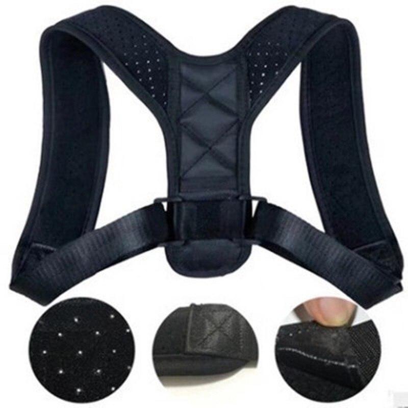 JOYLIVE Shoulder Lumbar Posture Correction Brace Support Belt Adjustable Back Posture Corrector Clavicle Spine Back
