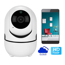 1080P Wireless IP Camera Cloud Wifi Smart Auto Tracking Surveillance Two Way Audio Baby Monitor Smart Alarm CCTV Indoor Camera free shipping baby monitor indoor 180 degree full view wireless camera p2p cloud tf card two way audio snowman v380 app