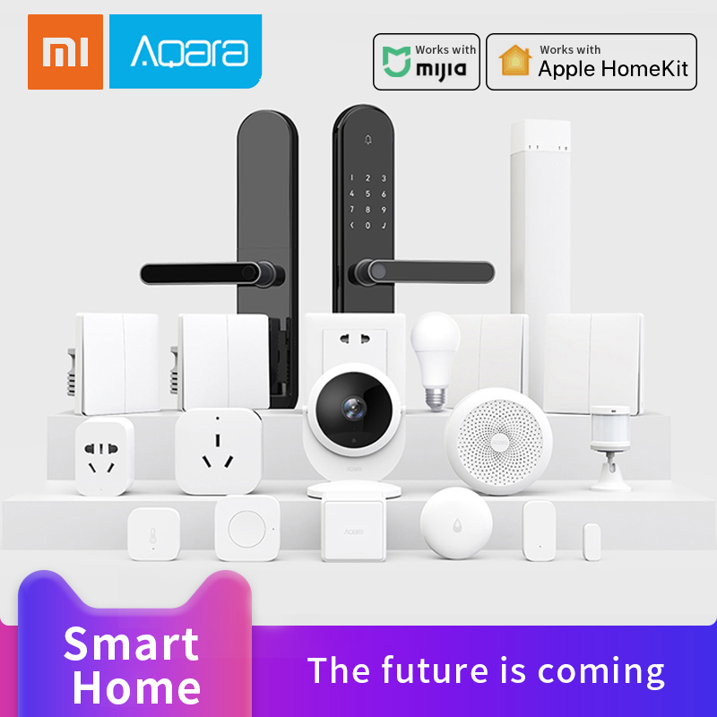 Xiaomi Aqara Wifi Thermostat Smart Lamp Curtain Motor Zigbee Sensor Gateway Hub Smart Wall Switch Smart Home System