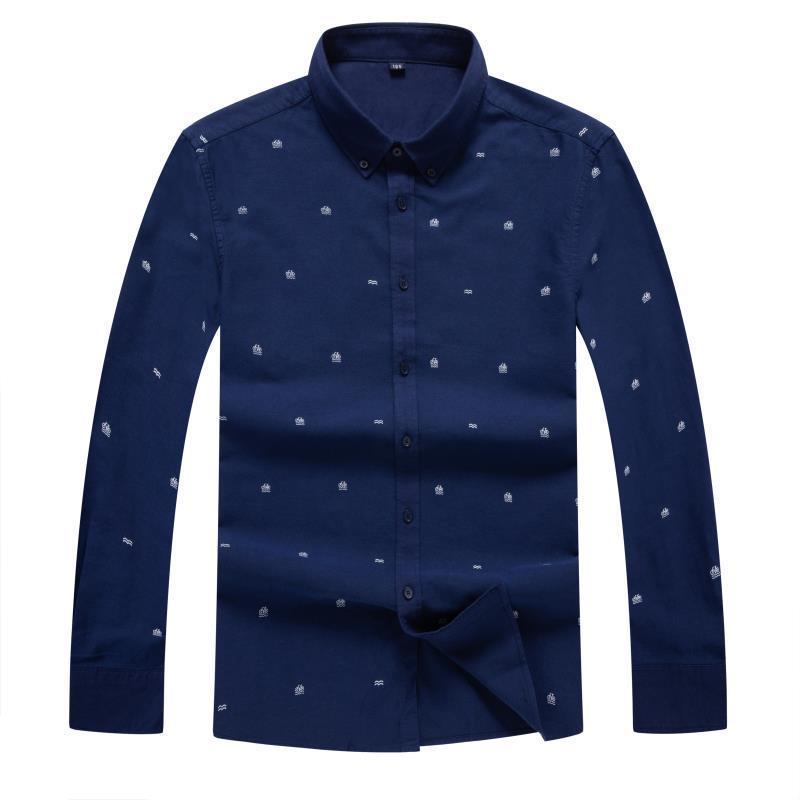 8XL Autumn Winter Brand New Men Shirt Male Dress Shirts Men's Fashion Casual Long Sleeve Business Formal Shirt Social Masculina