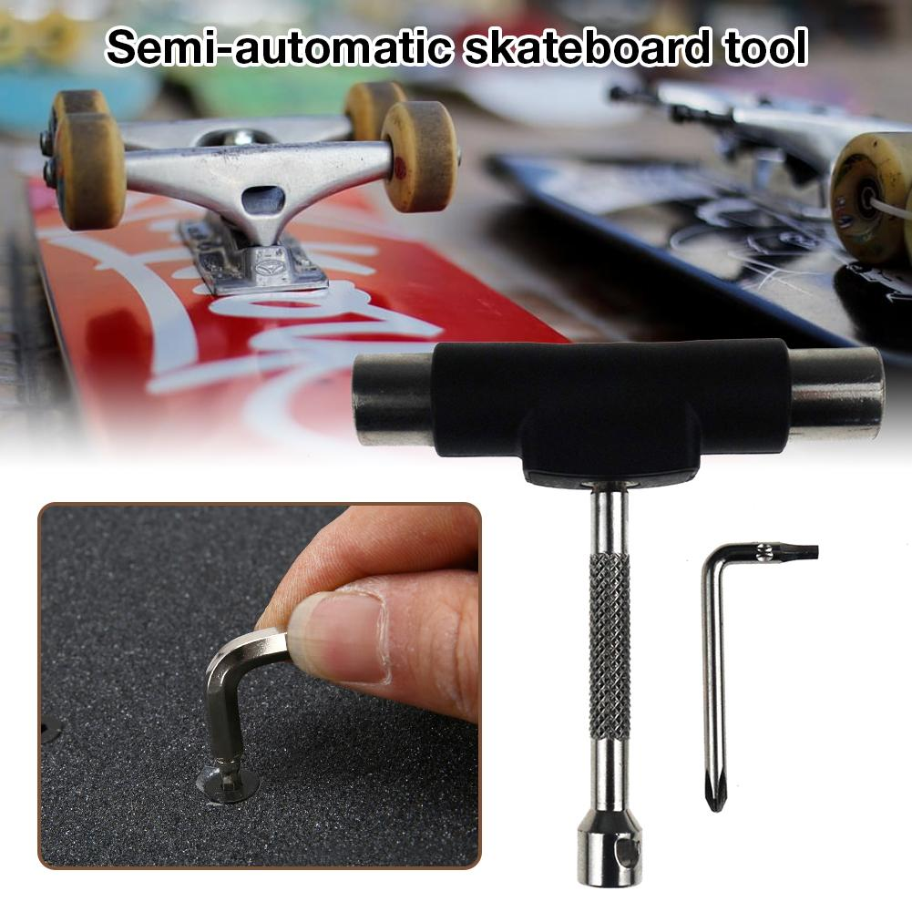Skateboard Tool All In One Semi-automatic Skateboard Tool Removable Tool With File Labor-saving Wrench Scooter Tool
