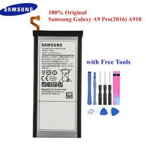 Image 1 - 100% Original Battery EB BA910ABE For Samsung Galaxy A9 Pro (2016) A9+ SM A9100 SM A910 SM A910F 5000mAh Li Polymer Akku +Tools