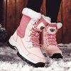 Winter sneakrs Women Warm Walking Shoes Plus Velvet Comfortable Breathable Snow Boots Outdoor Casual Botas De Neve Anti-slip