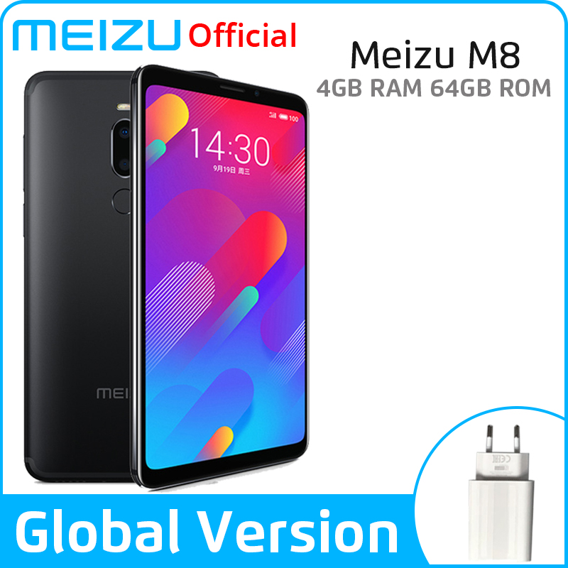 Meizu M8 4GB 64GB Global Version V8 SmartPhone Helio P22 Octa Core 5.7'' Screen Dual Rear Camera 3100mAh Fingerprint