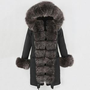 Image 2 - OFTBUY X long Parka Waterproof Outerwear Real Fur Coat Winter Jacket Women Natural Fox Fur Hood Luxury Outerwear Detachable New