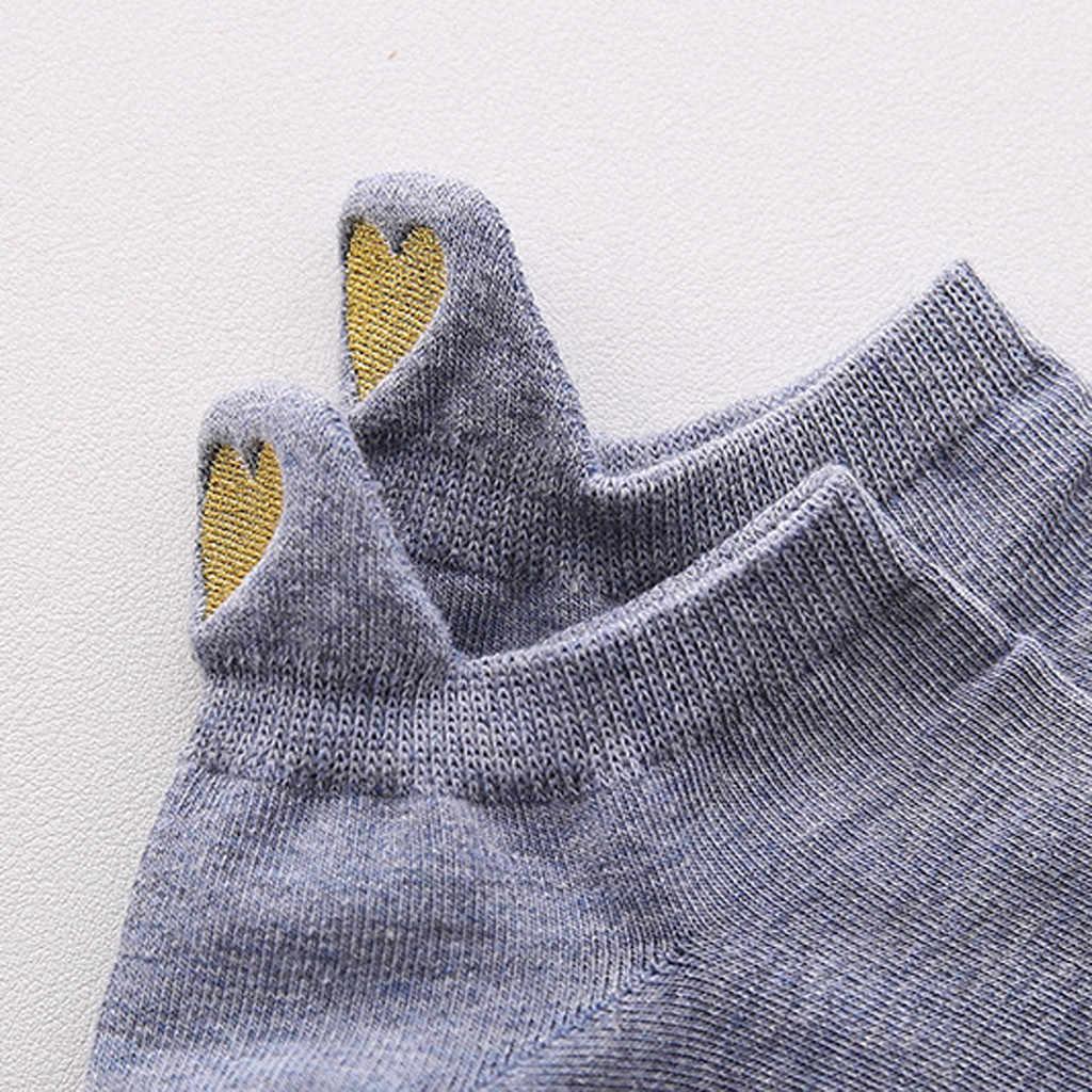 2019 新到着ファッションの女性は綿カジュアル冬不規則なハート柄スポーツショート Scok かわいいギフト靴下原宿 03 *