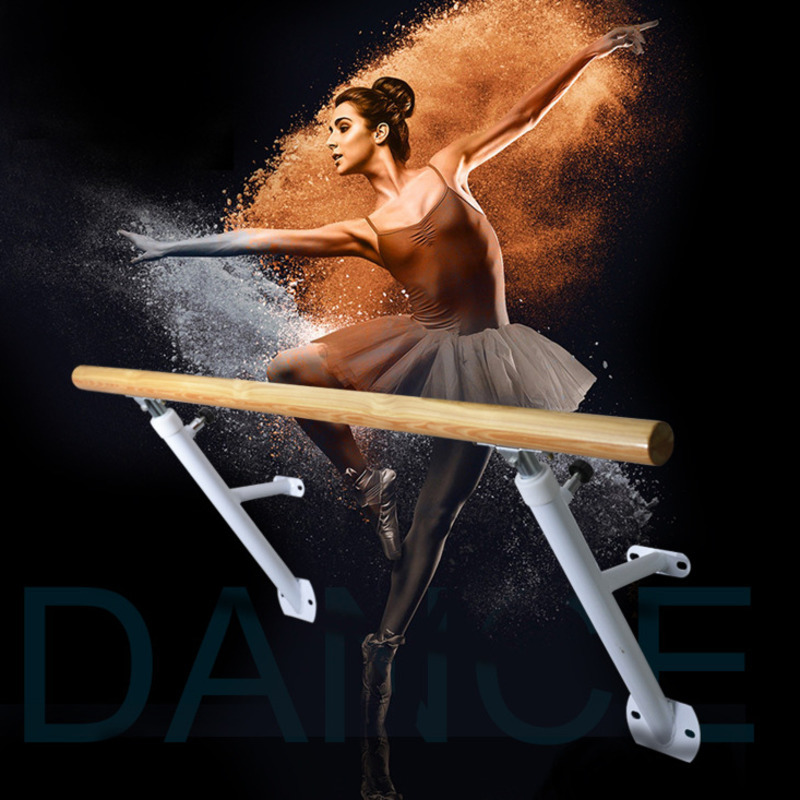 Adjustable Wooden Dance Bar Wall Mounted Thicken Steel Pole For Dance Practice Ballet Bar For Dancing Studio Horizontal Bar