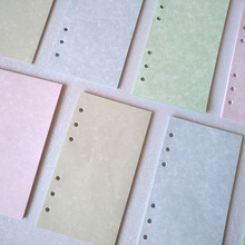Candy Color Notebook Papers A5 A6 Pages Planner Filler Paper Inside Page Gifts Stationery Office School Supplies a5 a6 a7 solid color page 6 holes inside pages planner papers cute notebook matching stationery
