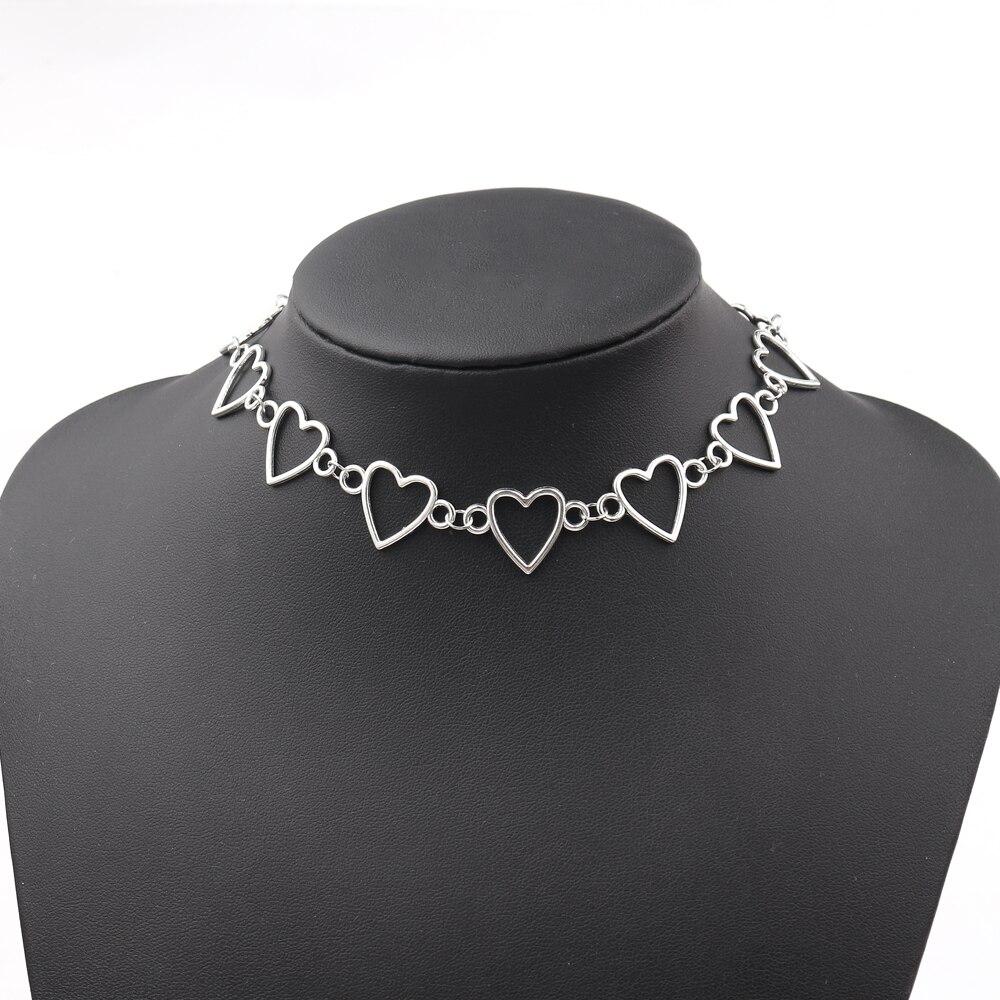 2019 moda colares para mulheres coração forma corrente arame farpado colar acessórios criativos chocker collier femme boho jóias