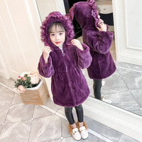 2019 New Winter Baby Girls Thick Clothes Faux Fur Fleece Coat Pageant Warm Jacket Xmas Snowsuit Baby Hooded Jacket Outerwear