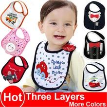 BBURQT 100% Cotton Baby Bib Infant Saliva Towels Waterproof Bibs Newborn Feeding Wear Cartoon Accessories animal shape DS19