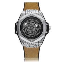 Cagarny кварцевые часы мужчин роскошный большой циферблат военные наручные часы для мужчин водонепроницаемый наручные часы уникальный дизайн прохладный мужской часы