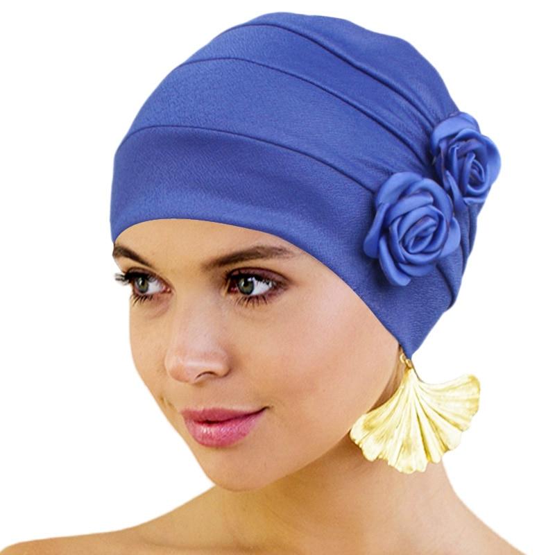 Chapéu de quimio turbante para mulher floral decro headwear beanies hiar perda câncer quimio boné senhoras bandana muçulmano capa de cabeça nova moda