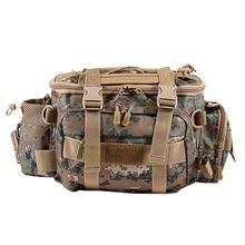 Fishing Bag Waterproof Outdoor Single Shoulder Waist Pack Lure Reel Tackle Pesca Storage Bag,Brown