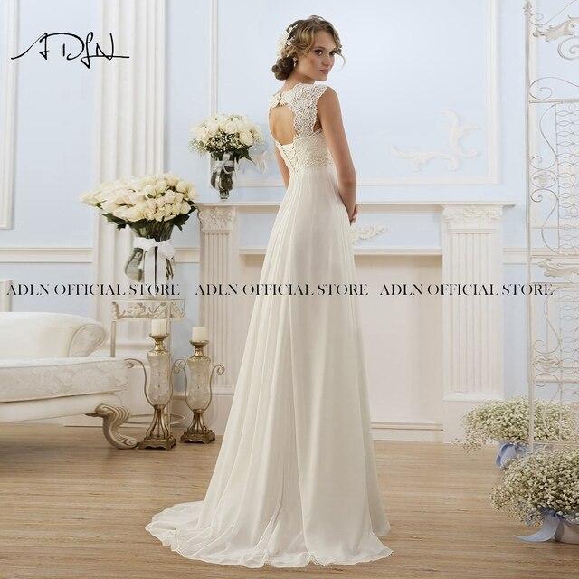 Simple Empire Waist Wedding Dress for Pregnant Woman Chiffon Boho Bride Dress Hot Sale Plus Size Cheap Bridal Gown Robe de Marie 2