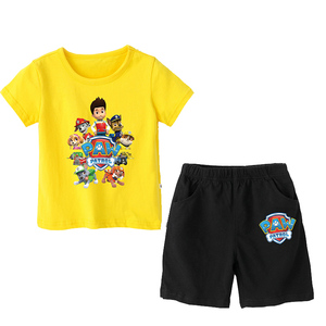 Image 5 - Paw patrol New 2019 Girls Baby Clothing spring  summer Breathable cotton T shirt childrens short sleeve suit childrens wear