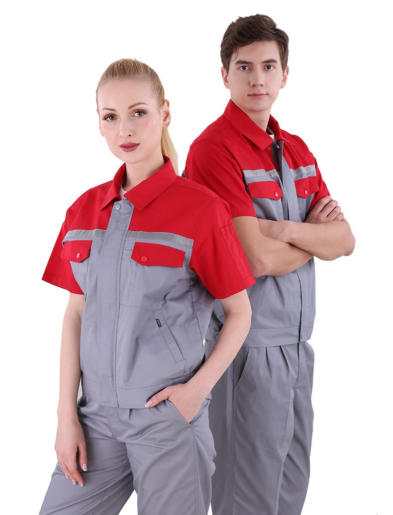 Summer Working Clothes Set Male/female Breathable Fast Dry Factory Workshop Auto Repair Uniforms Short-sleeves Coveralls S-4XL5X