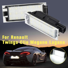 2x 18 LED Plaque D'immatriculation Lumière Lampe Pour Renault Megane 2 Clio Laguna 2 Megane 3 Twingo Maître Vel Satis Lampe de Signalisation