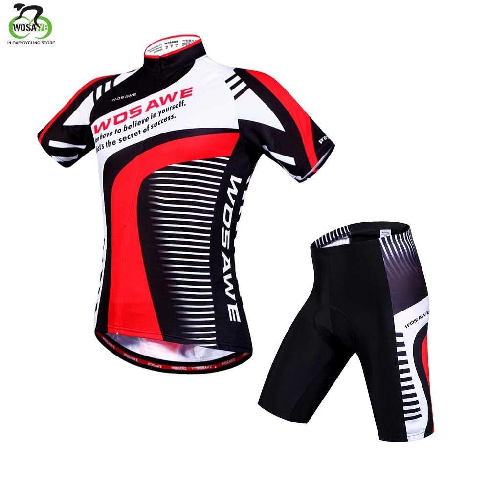 Wowase mulheres conjunto de ciclismo mtb bicicleta roupas femininas corrida roupas ropa ciclismo menina ciclo wear corrida bib calças curtas almofada