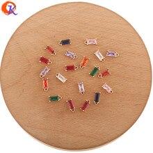 Design cordial 100 pces 4*9mm acessórios de jóias/feitos à mão/encantos de cristal/brincos conectores/pingente/diy fazendo/brinco descobertas