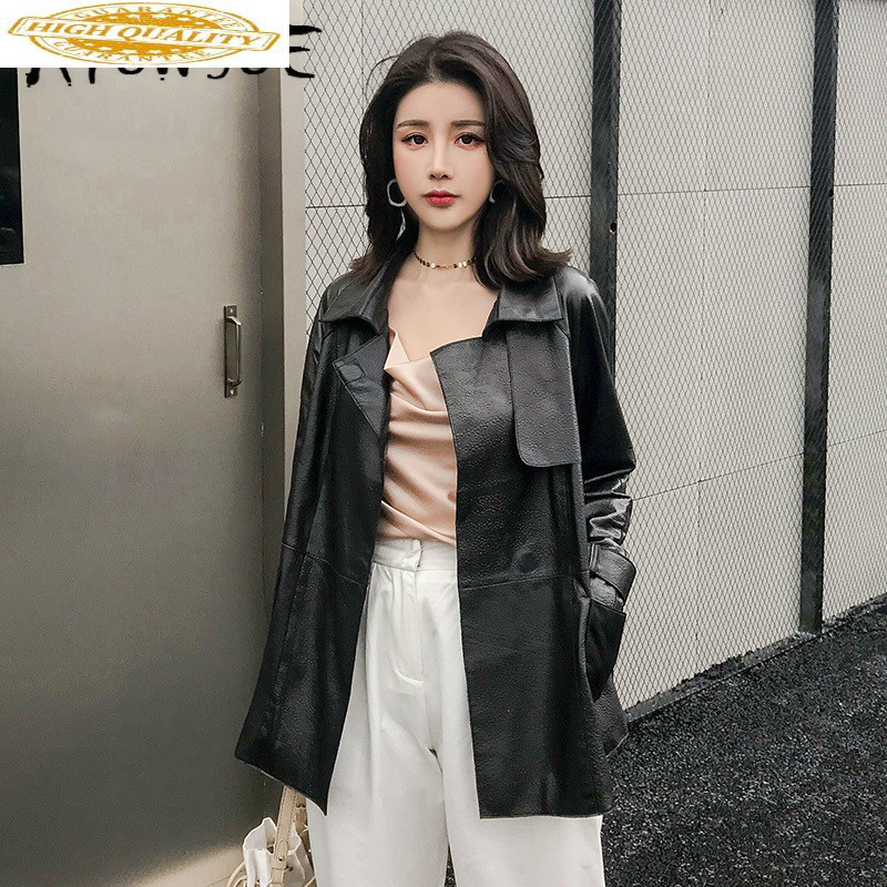 Real Leather Jacket Women Clothes 2019 Sheepskin Genuine Leather Jacket Korean Women Windbreaker Chaqueta Mujer 5W1903 YY2141