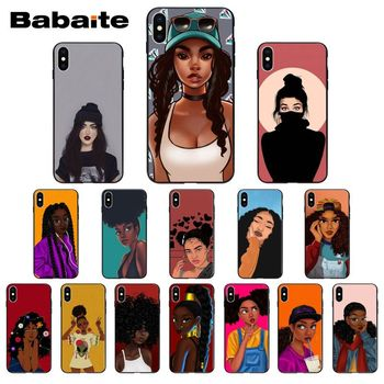 Black Girl Magic Melanin Poppin Melanin Aba girlPhone Case For iPhone 8 7 6 6S Plus 5 5S SE 11 11pro max XR X XS MAX Coque image