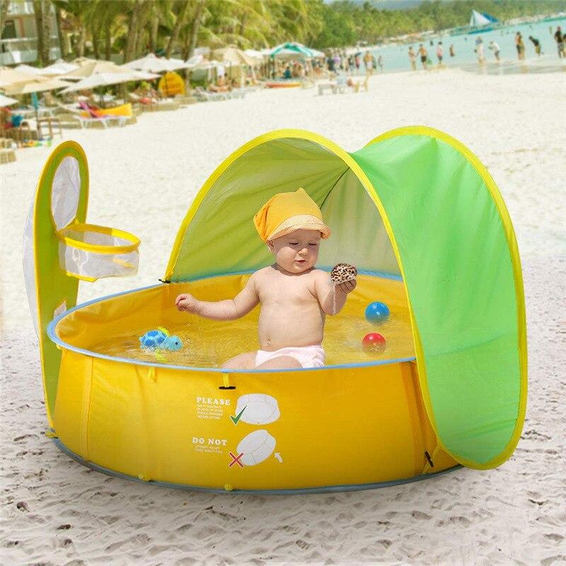 Kinderen Zwembad Kids Draagbare Ballenbad Tent Sunshelter Baby Play Water Outdoor Bad Mini Ronde Baby Zwembad Swimming Pool Aliexpress