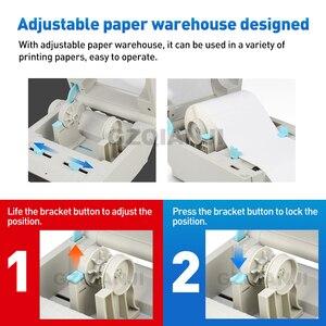 Image 4 - 4 дюйма Термальность принтер этикеток с высоким Скорость 160 мм/сек., включающим в себя гарнитуру блютус и флеш накопитель USB для печати Стикеры/принтер для печати этикеток