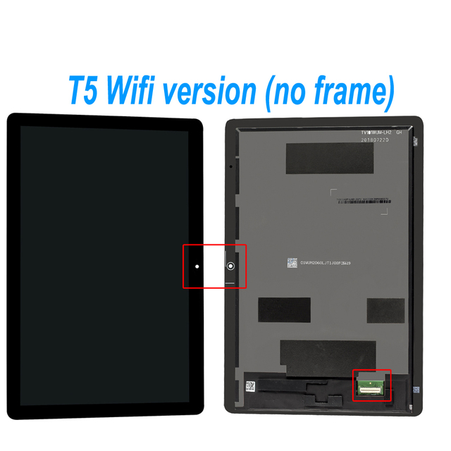 "10.1"" Original Lcd For Huawei MediaPad T5 AGS2-L09 AGS2-W09 AGS2-L03 AGS2-W19 LCD Display Touch Screen Digitizer Assembly Frame"