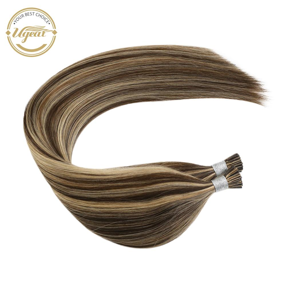 I Tip Human Hair Extension Machine Remy Keratin Fusion 0.8g/s 14-24'' Piano Color Hair Pre Bonded Extension 40G/80G Per Pack