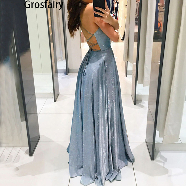 2021 A-Line Spaghetti Straps Tea-Length Red Satin Prom Homecoming Dresses Sparkly Sexy Hollow Night Evening Vestidos Women 1