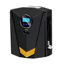 Портативный компрессор воздуха автомобиля цифровой шин надувное воздушный насос 150 PSI авто насос воздуха для автомобиля мотоцикла светодиодный свет шин