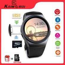 Kaimorui KW18 Bluetooth Intelligente Orologio SIM Card Frequenza Cardiaca Carta di TF Uomini Della Vigilanza di Sport Del Telefono Smartwatch Per Xiaomi Huawei IOS telefono