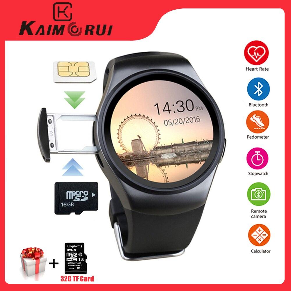 Kaimorui KW18 Bluetooth Smart Watch SIM Card Heart Rate TF Card Men Sport Watch Phone Smartwatch For Xiaomi Huawei IOS Phone