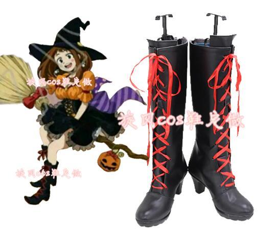 Cosplay Shoes Academia Boots Shoes-Accessories Party Halloween Custom-Made URARAKA Women