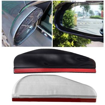 2Pcs Car Auto Vehicle Rearview Mirror Rain Eyebrows Shield Shades Accessories image