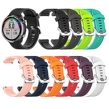 Silicone Watch Band 20MM Sports Strap for Garmin Forerunner 645 Smartwatch Accessories Replacement Wristband Bracelet