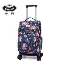 Дорожная сумка на колесиках для женщин чемодан переноски покупок