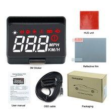 新しいA100SカーhudヘッドアップディスプレイOBD2 euobd速度超過警告自動電子電圧アラームよりもA100 hud