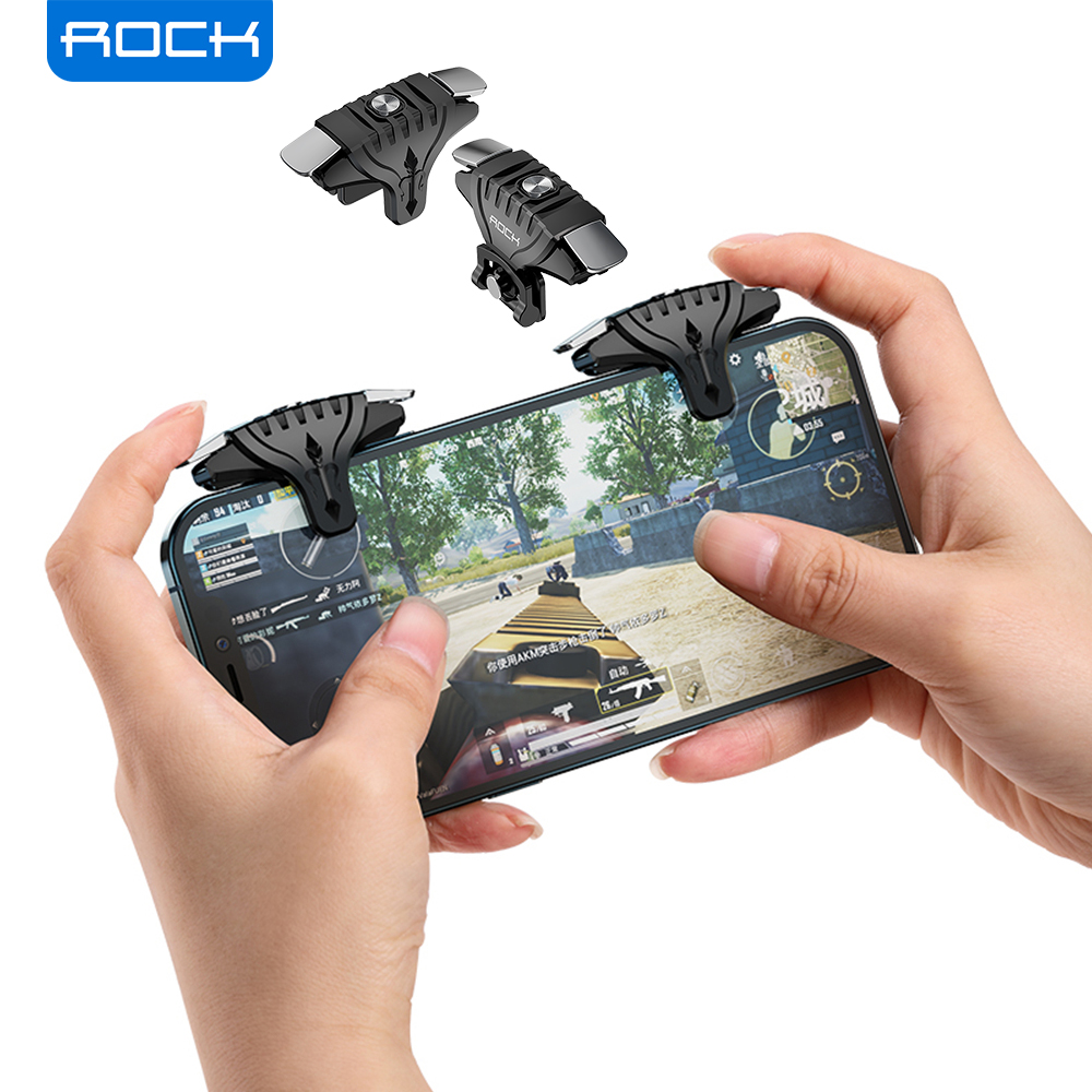 ROCK Moible Controller Gamepad For PUBG Joypad Trigger Fire Button Aim L1 R1 Key L1R1 Shooter Controller For PUBG Game Pad