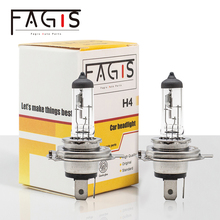 Fagis US Brand 2 Pcs H4 9003 HB2 12v 60/55w P43t Clear Bulbs White Car Headlight Auto Halogen Lamps Car Lights
