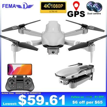 FEMA Professional F3 Drones GPS 5G WiFi FPV with 4K/1080P HD Wide Angle Camera Foldable Altitude Hold RC Quadcopter drone original gdu o2 drones fpv foldable quadcopter with 4k hd camera gps