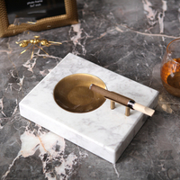 Retro Gold Metal Ashtray Naked Marble Cigar Statue Ashtray Living Room Bedroom Bar Decor Car Ashtray Home Decor Accessories Gift