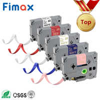 Fimax 1PCS Satin Ribbon 12mm tze tape TZe-R231 TZe-RE34 TZE-RE31 TZE-RG34 Compatible for brother gift P Touch Printer