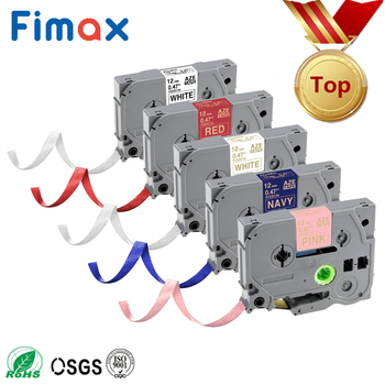 Fimax 1PCS TZe-231 Satin Ribbon 12mm Tze Tape TZe-R231 TZe-RE34 TZE-RE31 TZE-RG34 Compatible For Brother Gift P Touch Printer