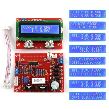 0-28V 0.01-2A Adjustable DC Regulated Power Supply DIY Kit LCD Display KitShort-circuit/Current-limit Protection - discount item  23% OFF Electrical Equipment & Supplies