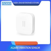 Xiao mi Aqara مستشعر اهتزاز ذكي مستشعر الصدمات زيجبي للسلامة المنزلية ، لـ Siao mi mi Home App International Edition