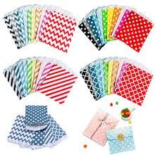 Четыре смешанные бумага пакеты красочные горошек точка сумки 13x8см грация открытый верх подарок упаковка бумага пакеты
