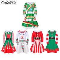 2019 bébé filles robe robes de noël pour enfants fête Vestidos Thanksgiving filles vêtements père noël robes pour filles SD007