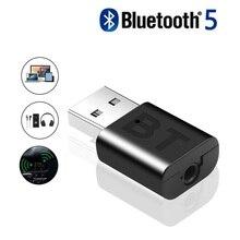 Автомобильный Bluetooth 5,0 аудио адаптер приемник Беспроводная Музыка 3,5 мм AUX разъем аудио рецептор USB Мини Bluetooth для автомагнитолы стерео